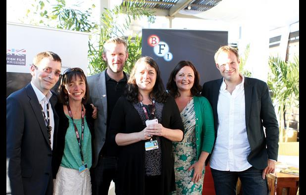 Andrew Reid (Northern Ireland Screen), Kattie Kotok (British Film Commission), Ben Roberts (BFI Film Fund), Diane Henderson (Edinburgh International Film Festival), Kaye Elliott (Creative England) and Will Massa (British Council, London)